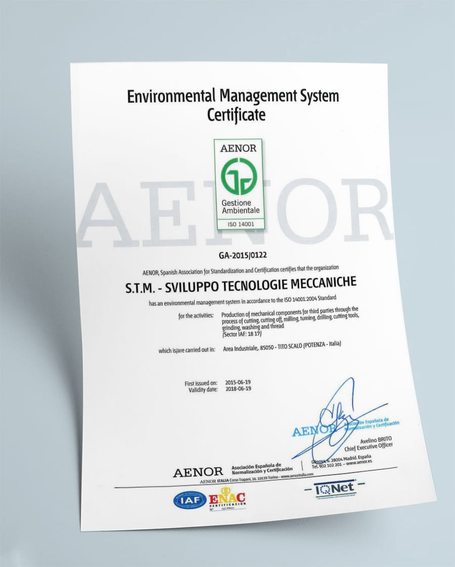 Certifications stm sviluppo tecnologie meccaniche certified for compliance with iso 90012008 and isots 169492009 quality standards and environmental management system they are reviewed on a regular xflitez Images